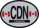 Design of the Canada 120x90mm Decal Oval Reflect