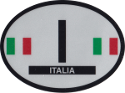 Design of the Italy 120x90mm Decal Oval Reflect