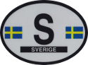 Design of the Sweden 120x90mm Decal Oval Reflect