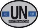 Design of the United Nations 120x90mm Decal Oval Reflect