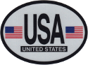 Design of the United States America 120x90mm Decal Oval Reflect