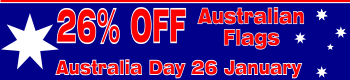 Australian flags discounted 26 percent for Australia Day 26 January